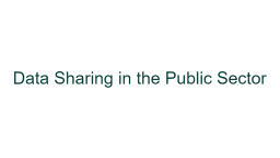 A Transparent Process: DPC Guidance on Data Sharing in the Public Sector