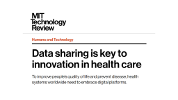 Data sharing is key to innovation in health care