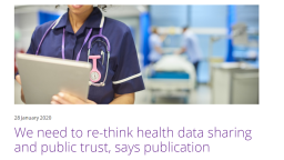 Re-thinking health data sharing and trust