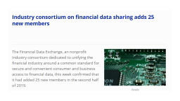 Industry consortium on financial data sharing adds new members