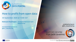 Data Talk: How to profit from open data