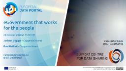 Data Talks: eGovernment that works for the people, better with data!