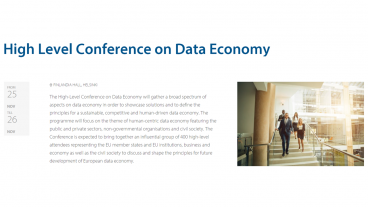 High Level Conference on Data Economy