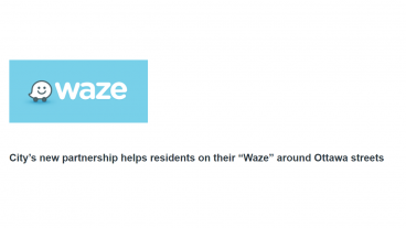 City of Ottawa to share traffic data with Waze