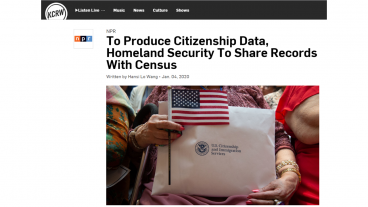 Homeland Security to share records with Census
